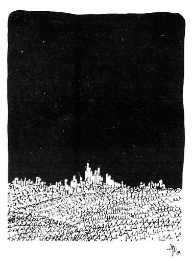 desenho de Sylvio de Podestá para o texto Arquitetura, de Ronaldo Masotti