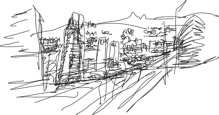 Desenho Avenida Afonso Pena