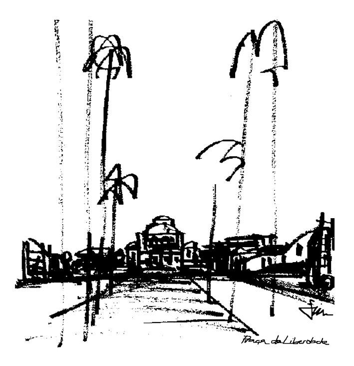 Desenho Praça da Liberdade